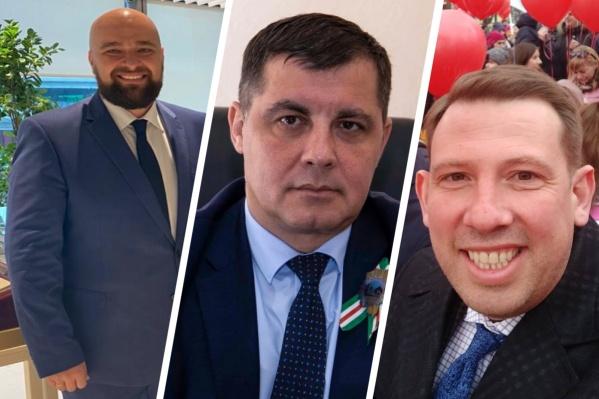 На фото — тройка самых высокооплачиваемых министров Кузбасса. Слева направо: Леонид Старосвет, Олег Ивлев, Антон Пятовский