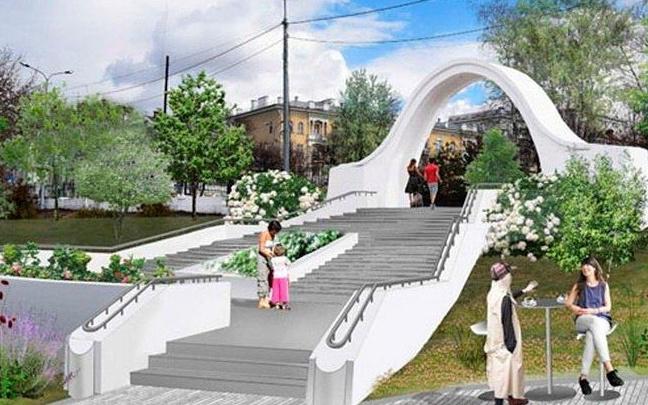 Арка, клумбы и фонтаны: смотрим, каким может стать сквер имени Симбирцева в центре Волгограда