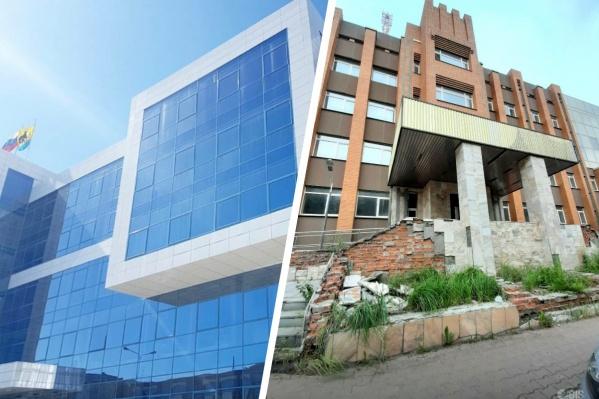 Слева — нынешнее здание мэрии, справа — будущее