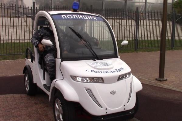 Впервые электромобили появились в парке на День города