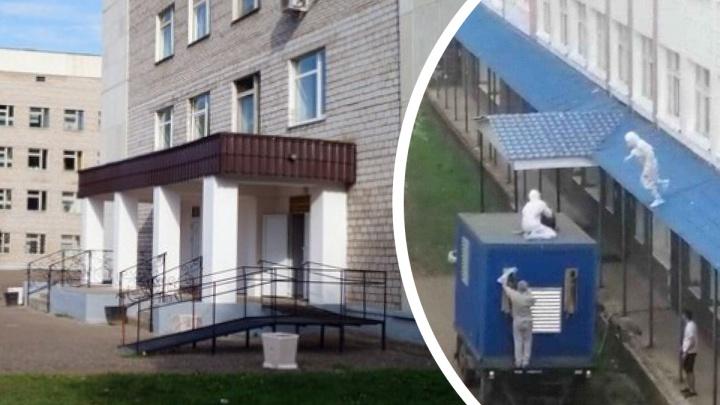В Башкирии из больницы пытался сбежать пациент с коронавирусом. Момент попал на видео