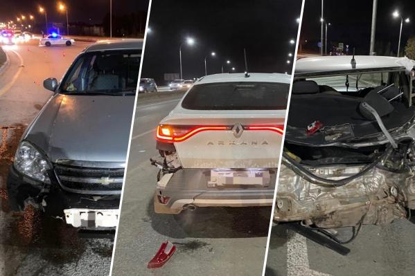 В результате аварии автомобили получили технические повреждения