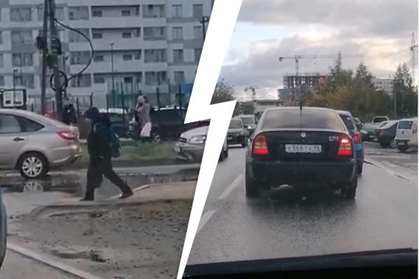 Водители теряют время из-за пешеходника, на котором нет светофоров