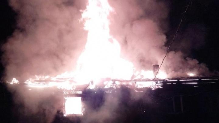 В Прикамье на пожаре погиб мужчина — еще четверо человек спаслись