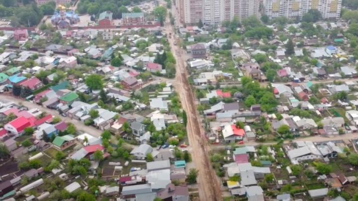 В Самаре разрыли улицу Нагорную