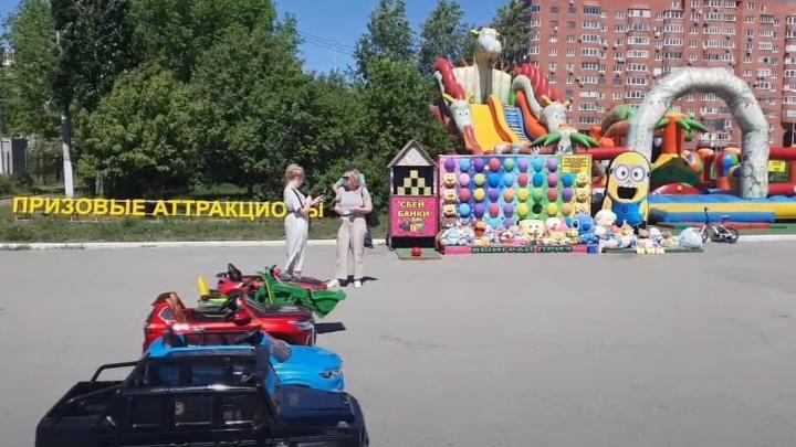 Теперь официально: с площади у входа в ЦПКиО исчезнут батуты и призовые аттракционы