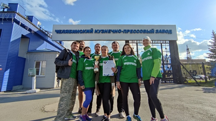 Сотрудники ЧКПЗ пробежали эстафету с учениками 108-й школы