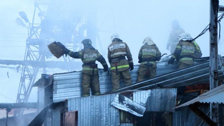 В Кургане на пилораме произошел пожар площадью 800 квадратных метров