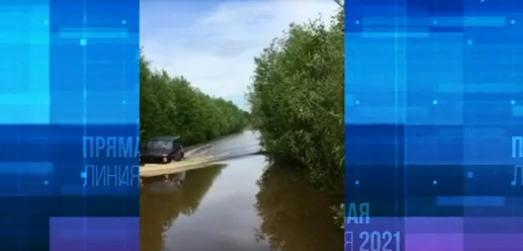 Жительница Лесосибирска пожаловалась президенту на затопленную дорогу