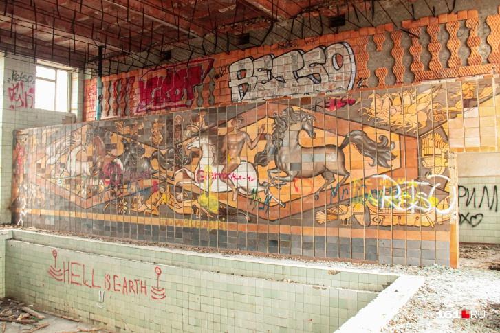 На руинах брошенной инфраструктуры угледобывающих предприятий