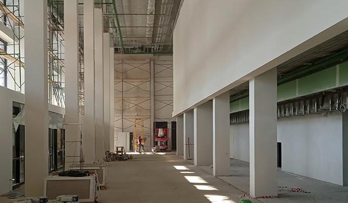 Архитектор дворца спорта на Молодогвардейской показал фойе здания