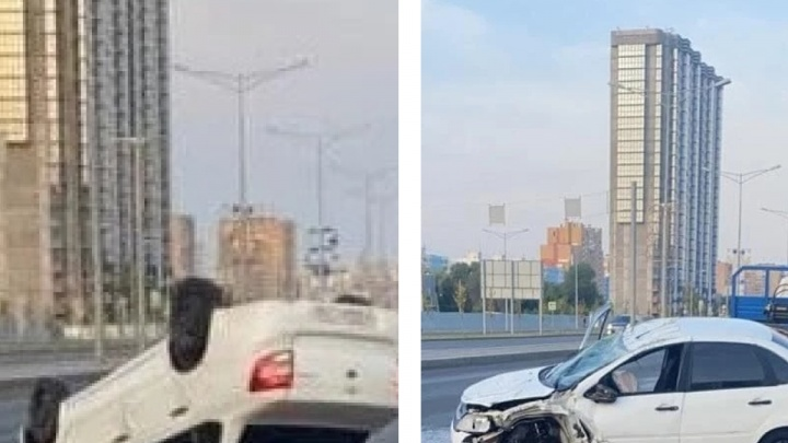 Наскочил на бордюр: полицейские рассказали подробности аварии с такси на Московском шоссе