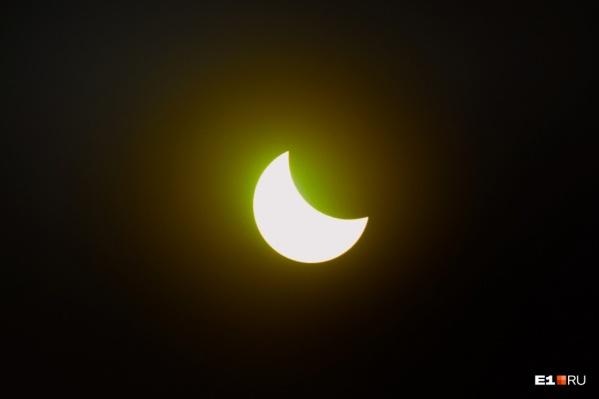 В Архангельской области луна «съест» лишь часть солнца