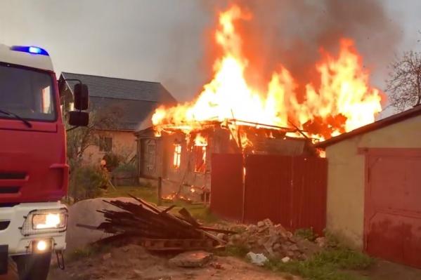Пожар случился на Суздалке во время грозы
