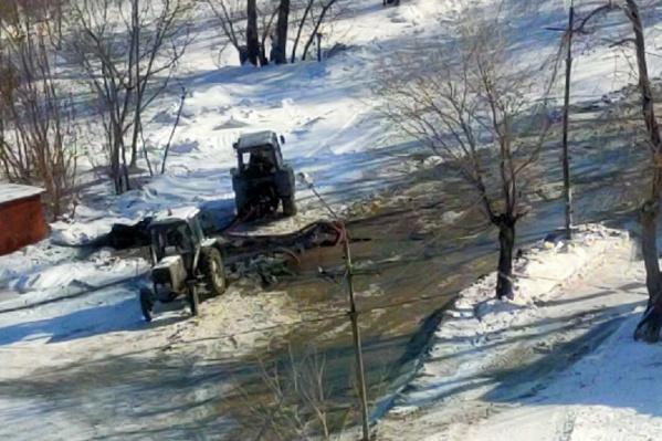 Авария произошла в районе дома на улице Ереванской, 49