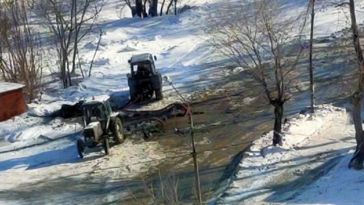 В Челябинске крупный район остался без воды из-за коммунальной аварии