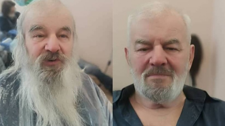 Создательница парикмахерской для бездомных в Уфе показала преображения своих подопечных