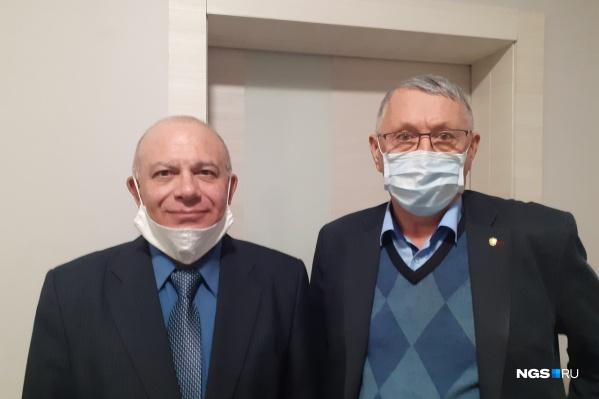"""Испытания проходили <nobr class=""""_"""">42 дня</nobr>, на фото слева — доброволец Марк Карафинка, справа — Андрей Тихомиров&nbsp;"""
