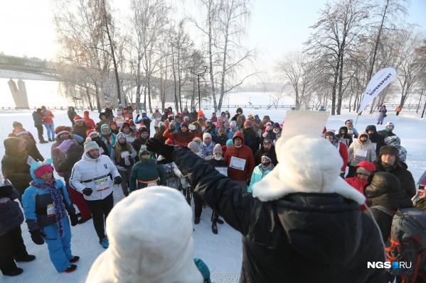 Несмотря на мороз, участников было немало