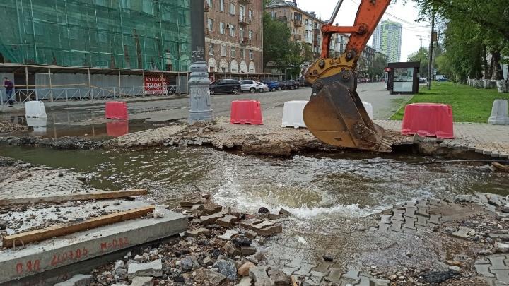В Перми из-за аварии на сетях перекрыли движение по Героев Хасана. Возможны перебои с водоснабжением