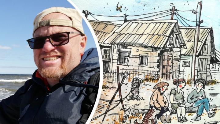 Жители Лопшеньги стали героями зарисовок мурманского художника: смотрим его работы
