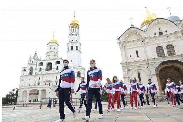Спортсмены сборной России перед отправлением в Токио побывали в Кремле на встрече с Владимиром Путиным