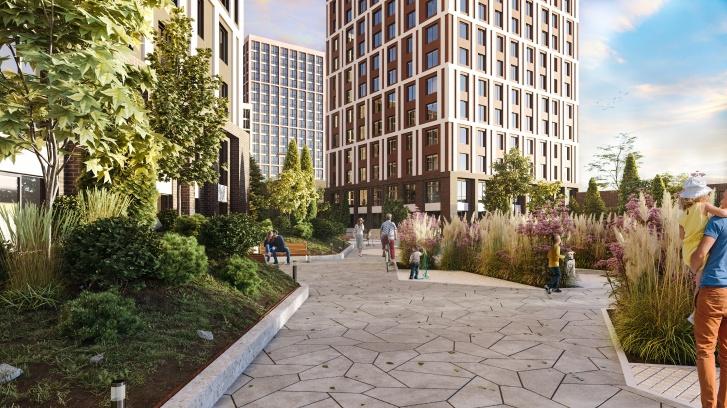 Озеленение дворов будет выполнено в едином стиле