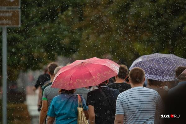 В первую неделю июня зонты вам точно понадобятся