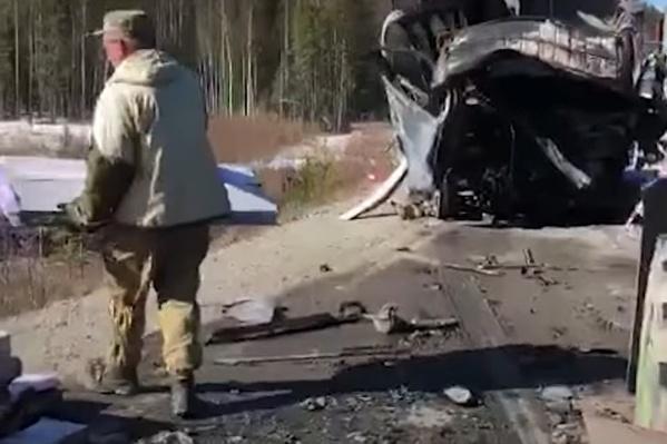 Это всё, что осталось от грузовика