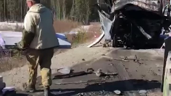 Полиция выяснила личности четырех человек, сгоревших в ночном ДТП, и предполагаемую причину аварии