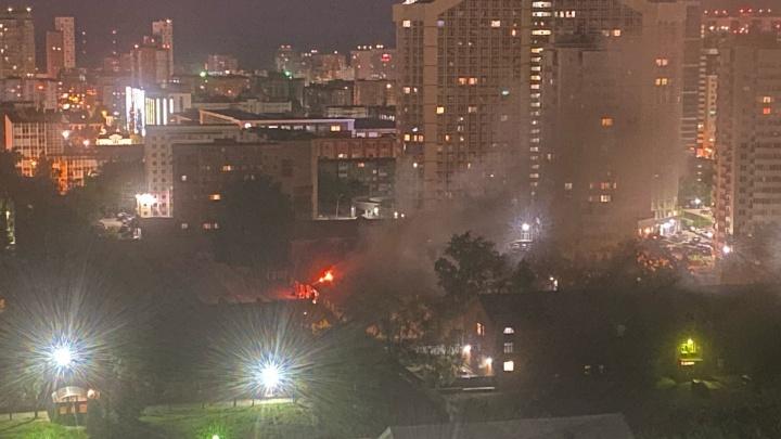 В Перми на территории Красных казарм произошел пожар