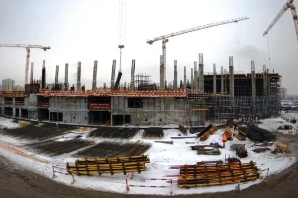 Строительство арены идет по графику