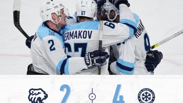 ХК «Сибирь» обыграл челябинский «Трактор» в выездном матче КХЛ