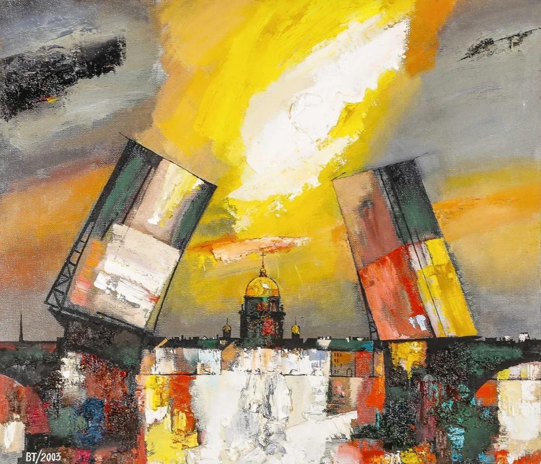 Валерий Табулинский. Дворцовый мост. 2003. Холст, масло