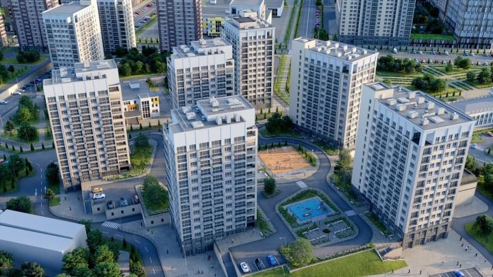 В Новосибирске начали строить огромный жилой комплекс бизнес-класса