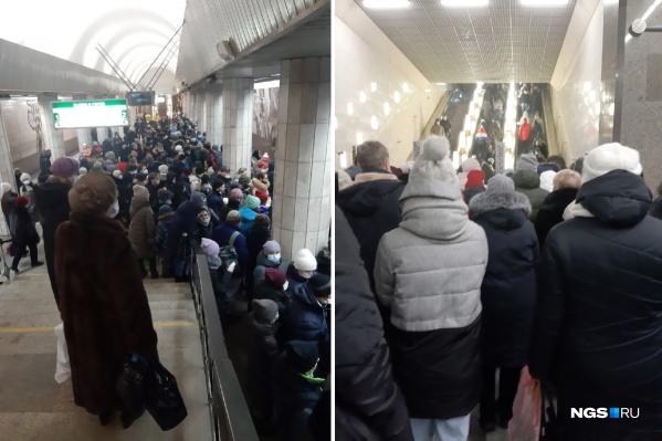 На станциях «Сибирская» и «Золотая Нива» мало свободного места