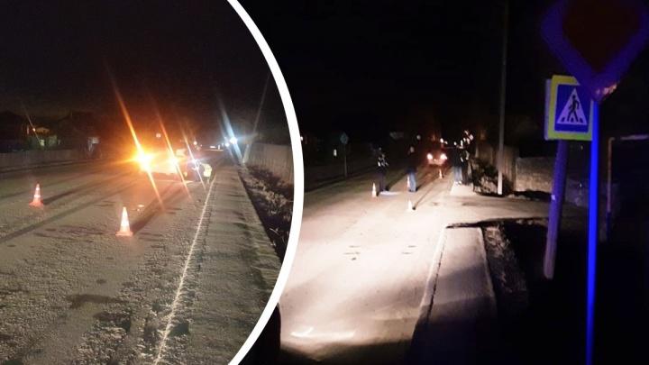 «Жена кричала, что едет машина»: на Урале Honda сбила мужчину и его 3-летнюю дочь на пешеходном переходе