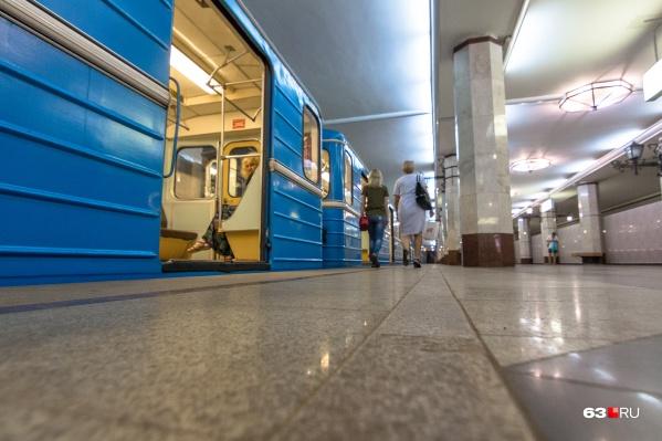 Днем в метро редко бывает много пассажиров