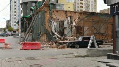 На Радищева рухнуло историческое здание возле «Гринвича»