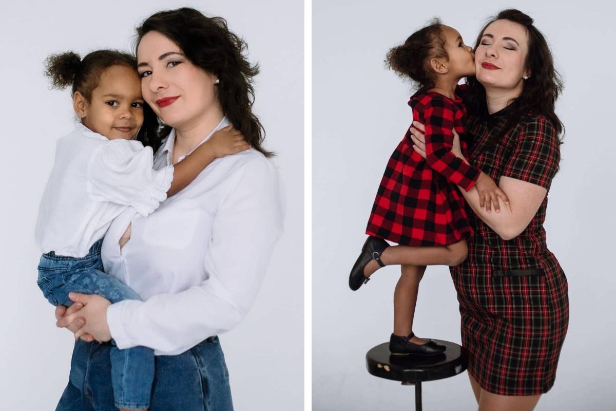 Несмотря на внешнее различие, Аделина очень похожа на маму по характеру