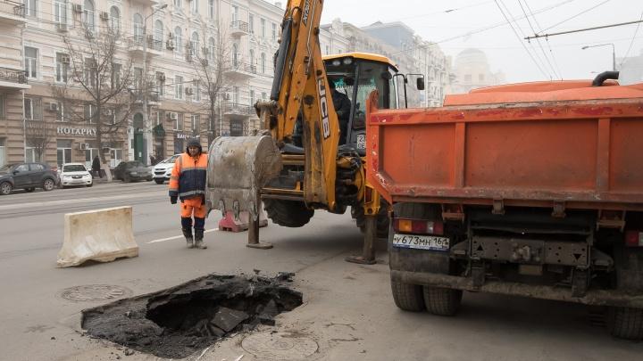 «Вы нам всё испоганили»: чиновники Ростова обвинили «Водоканал» в плохом ремонте дорог