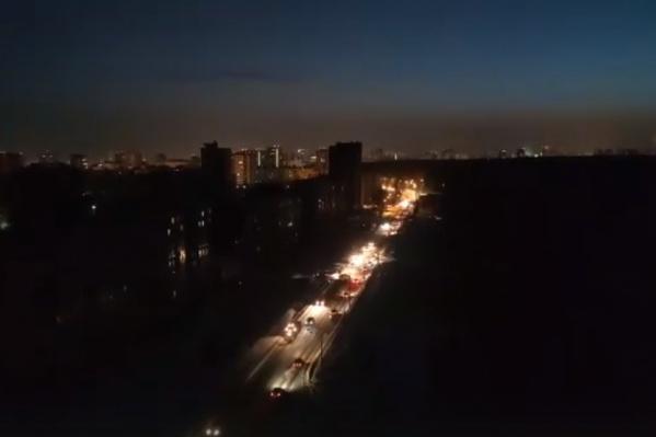 Электричество отключилось сегодня утром