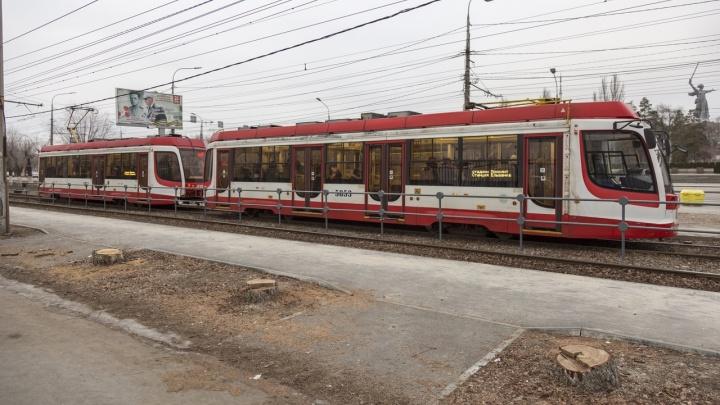 В Волгограде из-за неисправности остановили скоростной трамвай