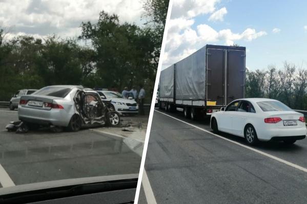 Авария произошла рано утром