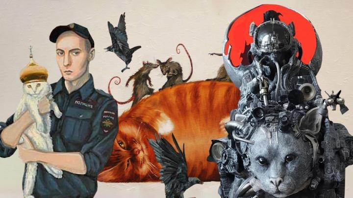 «Икона Росгвардии» и толстые котики: как выглядит современное искусство по-ростовски