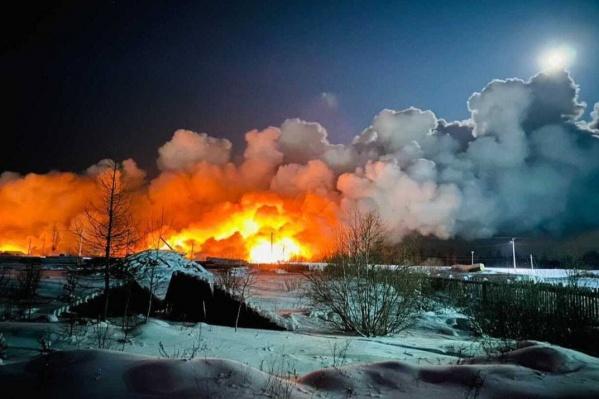 Жителей Таёжного беспокоит открытый огонь недалеко от домов