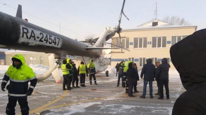 Суд оштрафовал на 120 тысяч пилота вертолета, врезавшегося в здание аэропорта Богучан