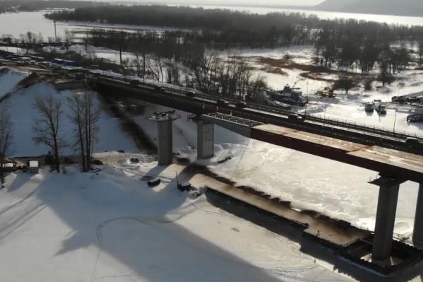 Так мост выглядел в конце января 2021 года
