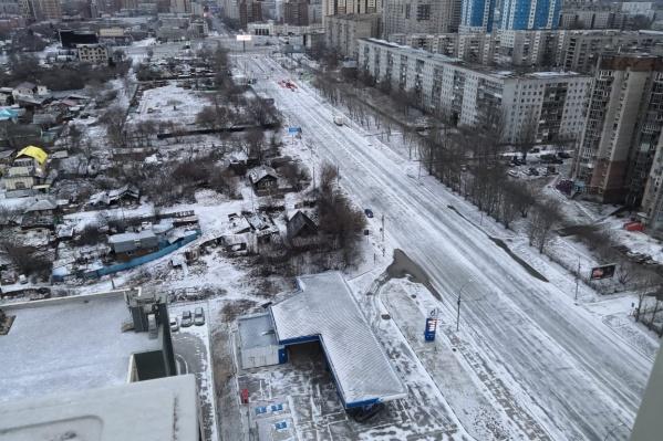 Утренний снег на Фрунзе