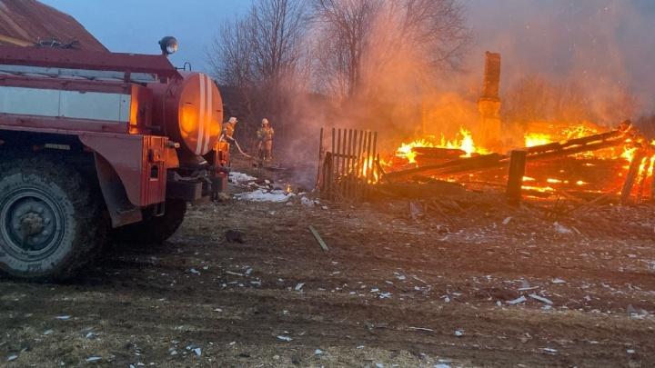 Следователи задержали мать четырех детей, погибших на пожаре подЧусовым